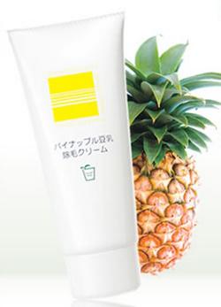 鈴木ハーブ研究所のパイナップル豆乳除毛クリーム